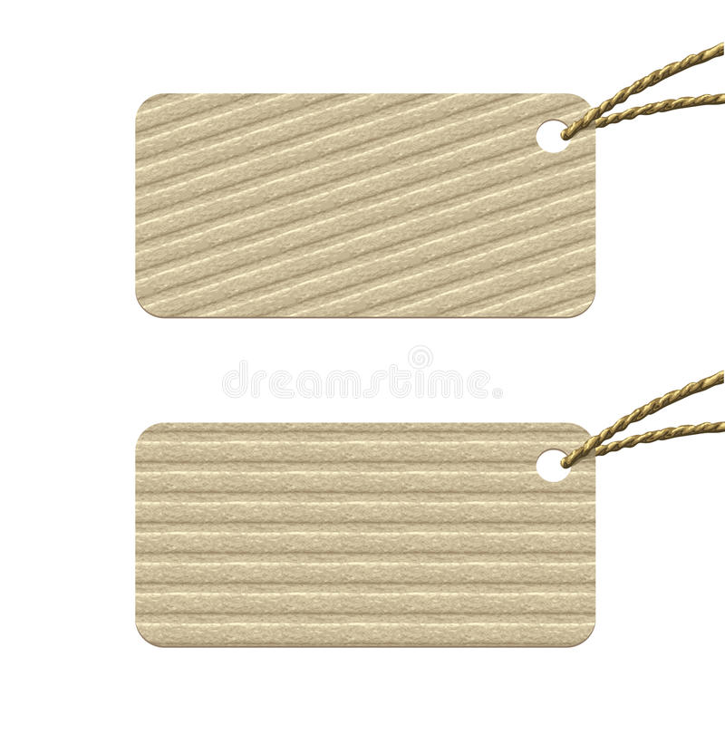 Download Cardboard tag with rope. stock vector. Image of price - 23479811