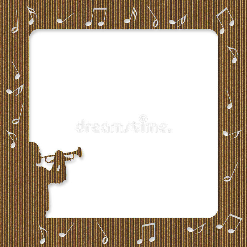 Download Cardboard Trumpet Player Frame Stock Illustration - Image: 8015731
