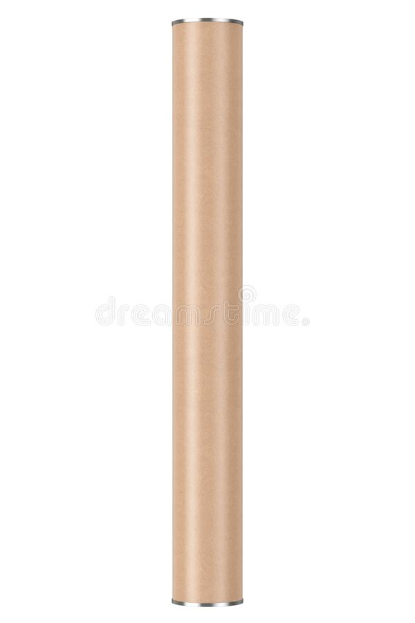 Cardboard Tube Package Box Container Mockup. 3d Rendering royalty free illustration