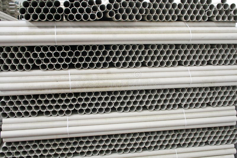 Cardboard tubes of a paper factory stock images