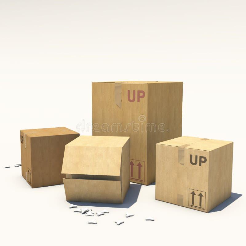 CardboardBox иллюстрация вектора