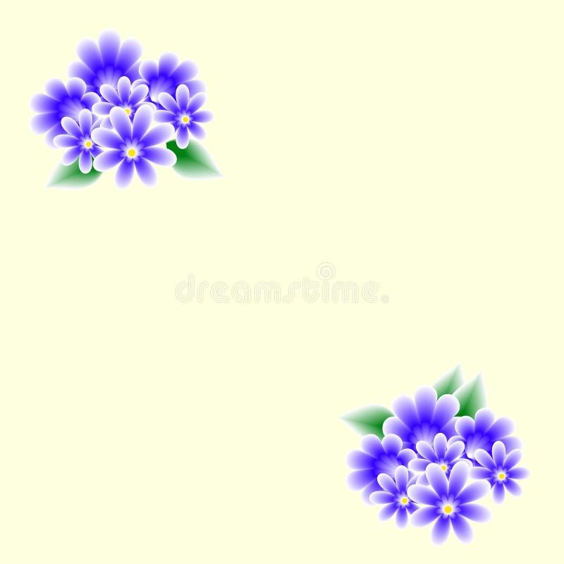 Carde com ramalhetes das flores ilustração stock