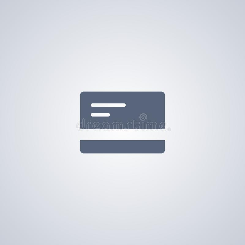 Carde el icono del vector, icono del vector de la tarjeta de crédito ilustración del vector