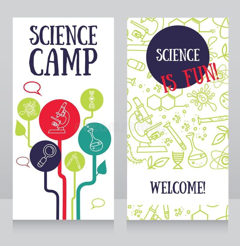 carde le calibre pour le camp de la science illustration stock