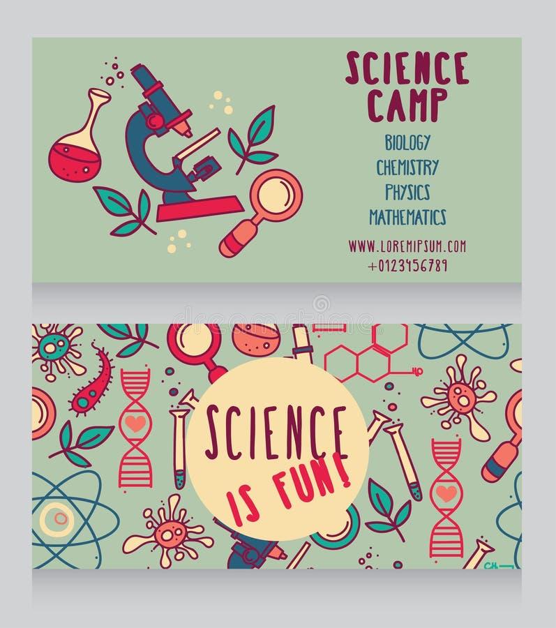 carde le calibre pour le camp de la science illustration de vecteur