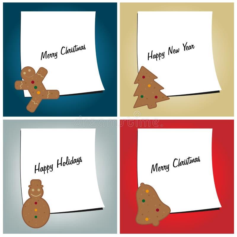carde le retrait de Noël modelant la pâte à modeler illustration stock