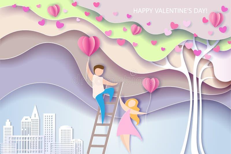 Carde para o dia de Valentim ilustração royalty free