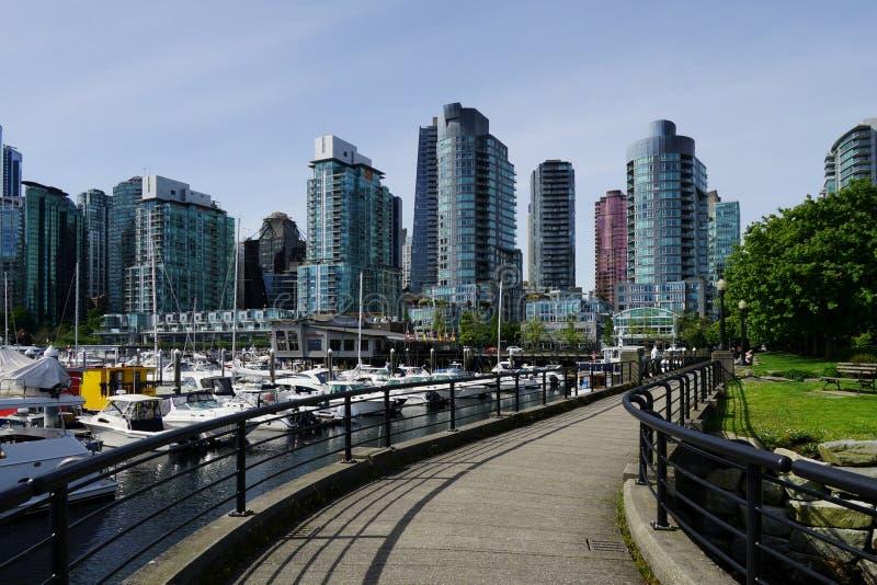 Download Cardero-Park-Gehwegansicht, Vancouver, Kanada Stockfoto - Bild von pfad, promenade: 106804570