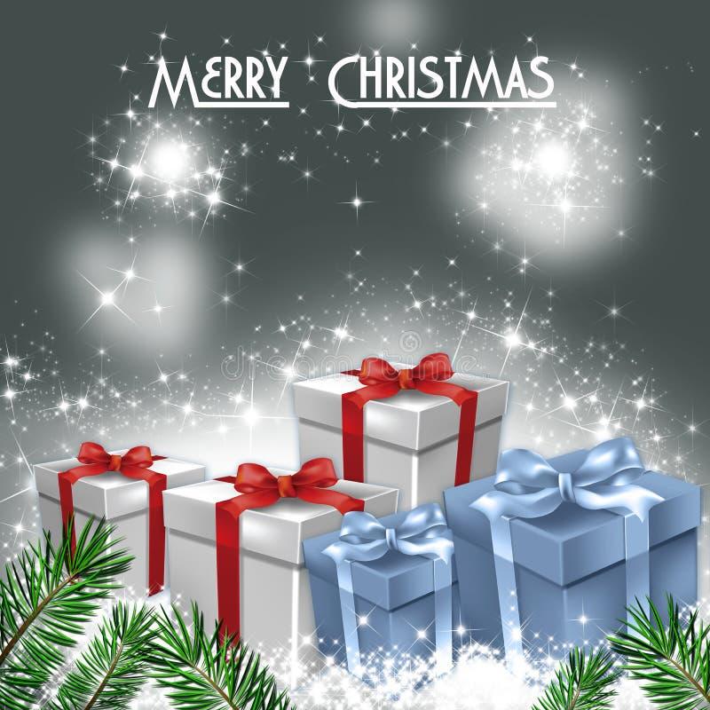 Download Cardez La Salutation De Noël Illustration Stock - Illustration du cadeau, imagination: 45353497