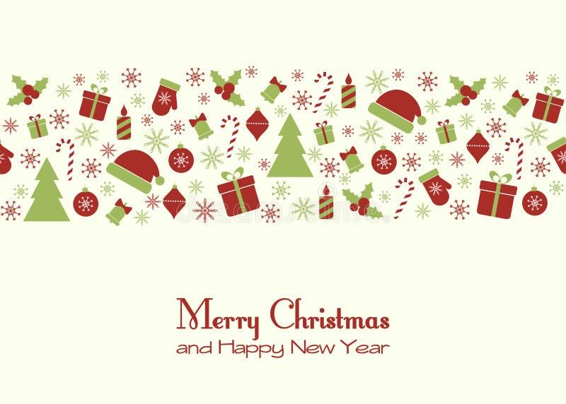 cardez la salutation de Noël illustration de vecteur