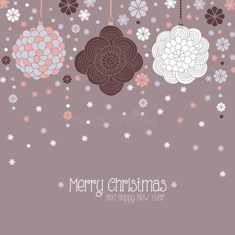 cardez la salutation de Noël illustration stock