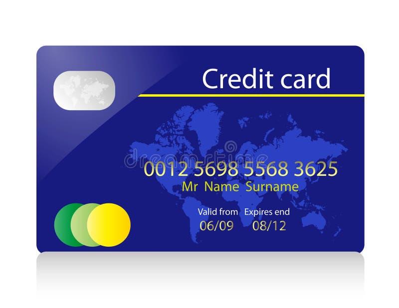 cardez le crédit illustration libre de droits