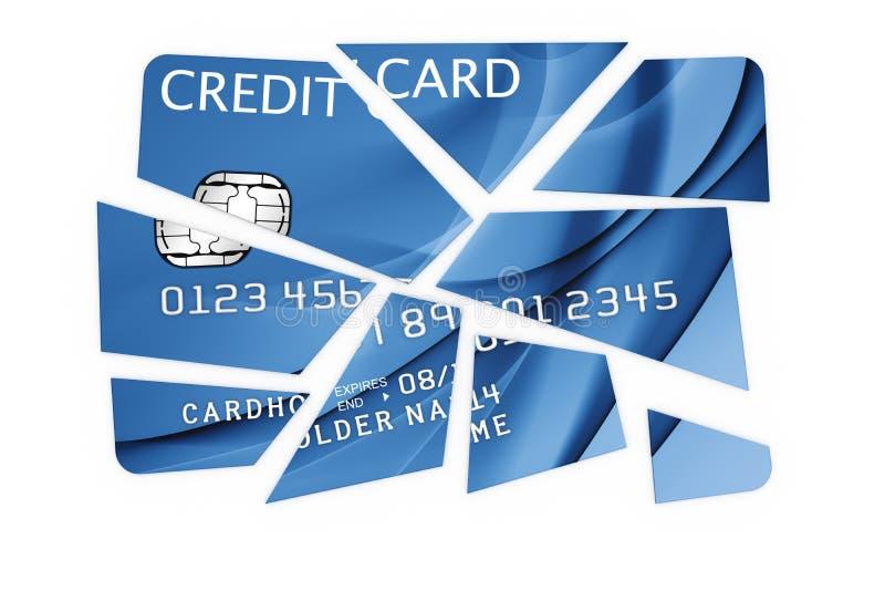 cardez les parties de coupure de crédit illustration stock