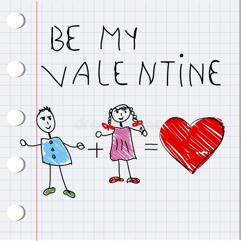 Cardez pour le jour de Valentine illustration de vecteur