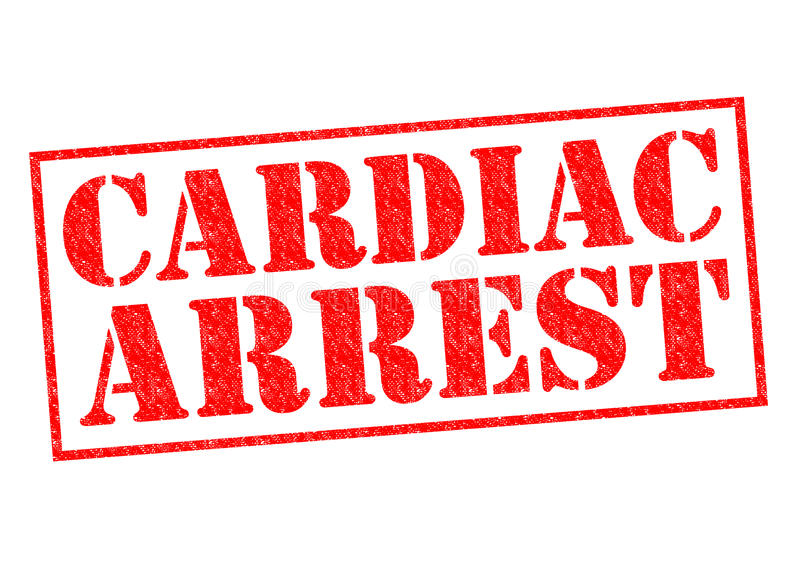 CARDIAC ARREST. Red Rubber Stamp over a white background royalty free illustration