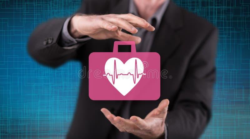 Concept of cardiac emergency royalty free stock photos