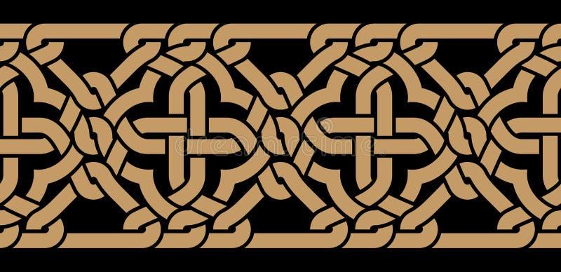 Cardiff Średniowieczna granica ilustracja wektor