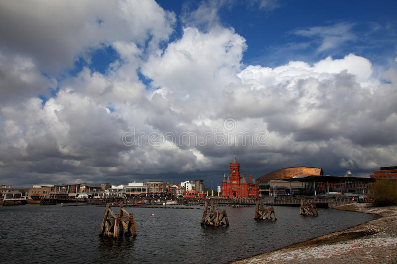 Download Cardiff Bay stock photo. Image of plass, roald, welsh - 24519888