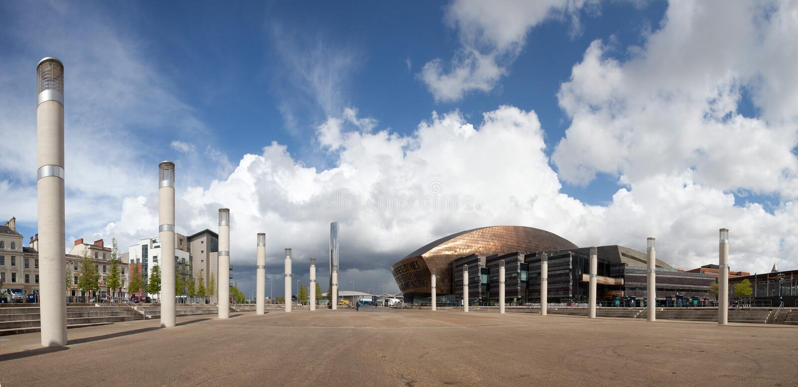 Download Cardiff Bay stock image. Image of assembly, south, centre - 24520343