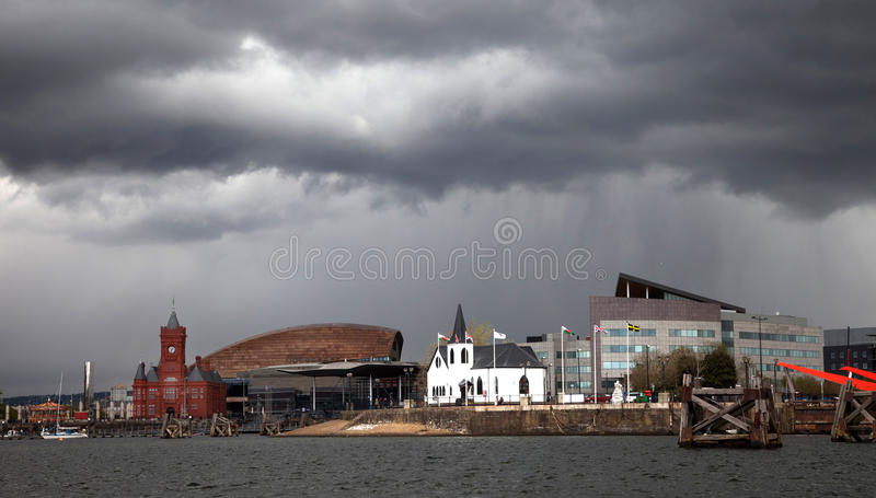 Download Cardiff Bay stock image. Image of church, view, dahl - 24552975