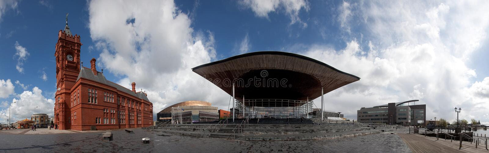 Download Cardiff Bay stock image. Image of copper, roald, storm - 24554293