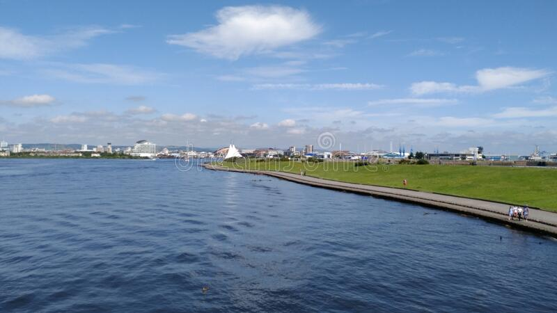 Cardiff Bay fotografia stock