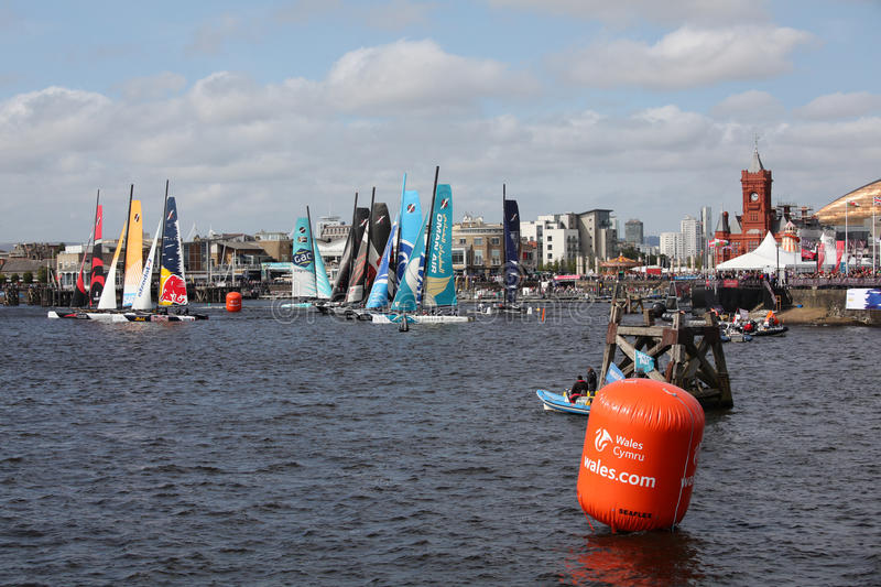Download Cardiff Bay Extreme Sailing Race 2012 Editorial Stock Image - Image: 26599914