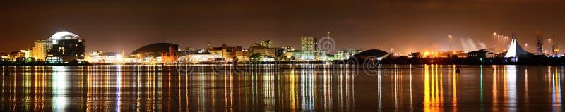 Cardiff Bay At Night Royalty Free Stock Photos