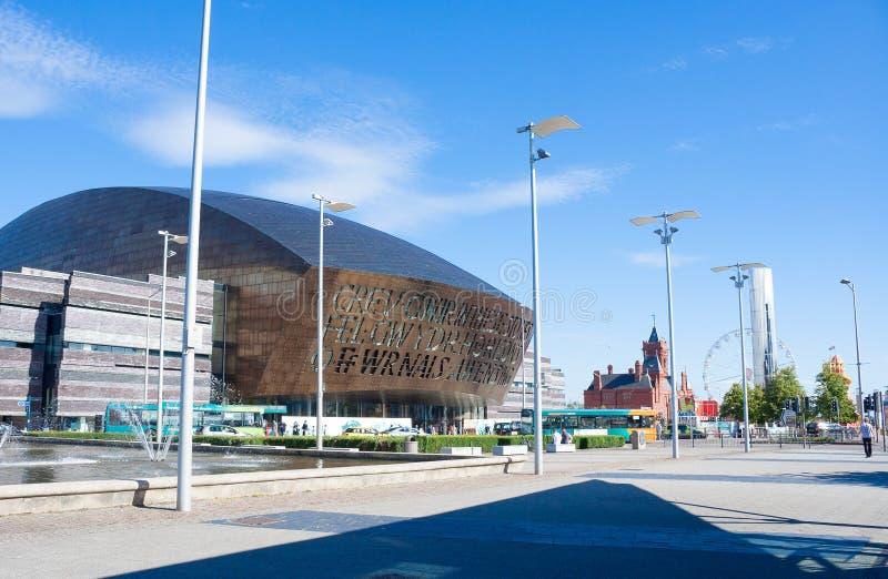 Cardiff-Bucht stockbild