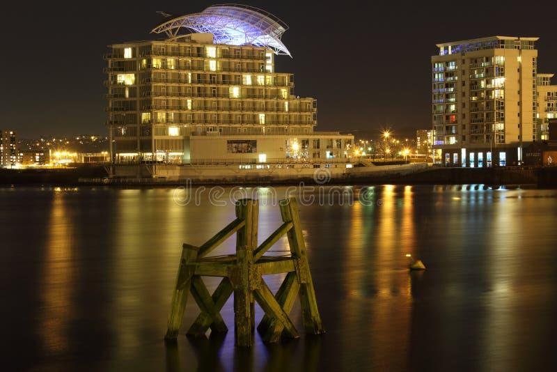 Cardiff fjärd royaltyfri fotografi
