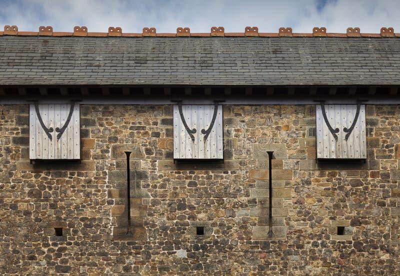 Cardiff kasztelu fortyfikacja obrazy stock