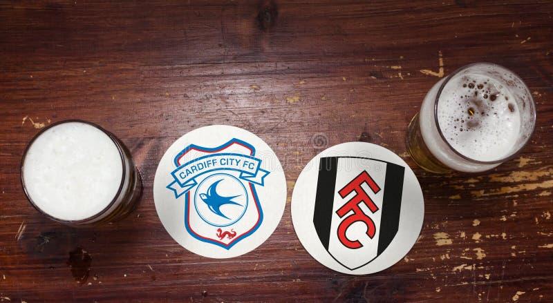 Cardiff miasto vs Fulham zdjęcia royalty free