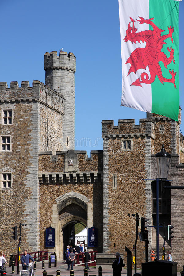 Download Cardiff old town wall editorial image. Image of cardiff - 24627865