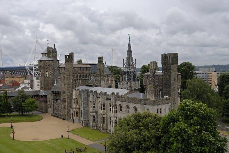 Cardiff-Schloss lizenzfreie stockfotografie