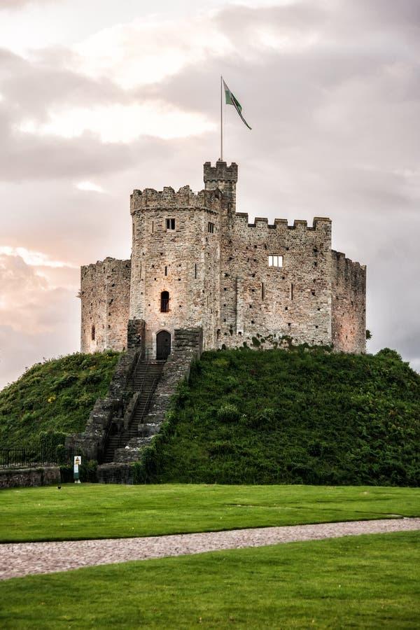 Cardiff-Schloss lizenzfreie stockfotos