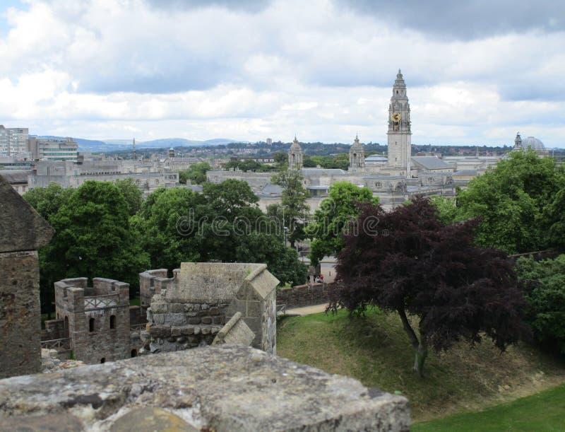 Cardiff slott royaltyfria foton