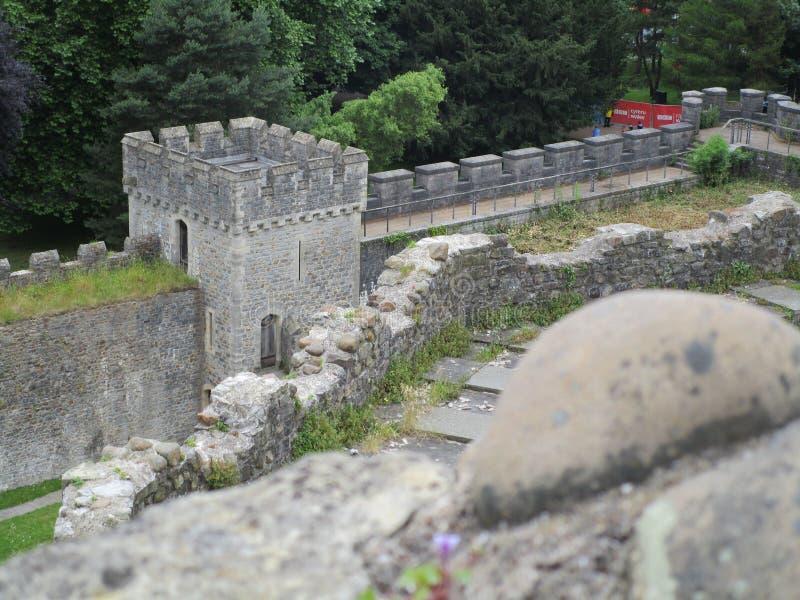 Cardiff slott arkivfoto