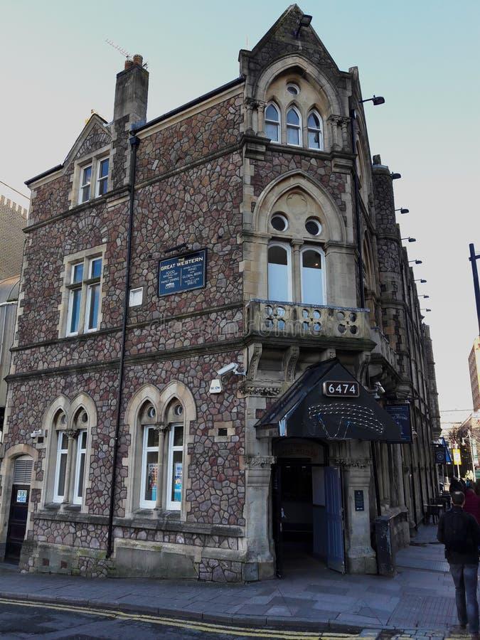 Cardiff wędkował dziejowego budynek, Galles, UK fotografia royalty free