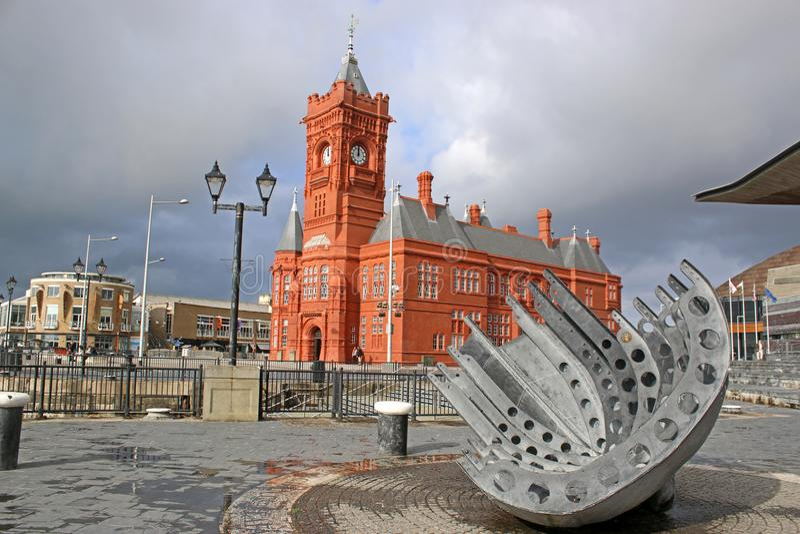 Cardiff zatoka, Walia fotografia stock