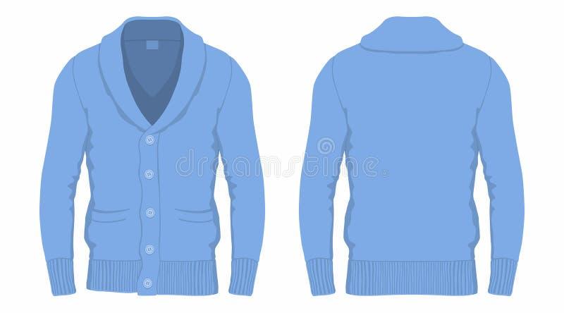 Cardigan del blu del ` s degli uomini illustrazione vettoriale