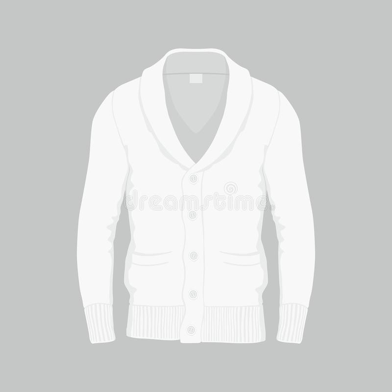 Cardigan di bianco del ` s degli uomini royalty illustrazione gratis