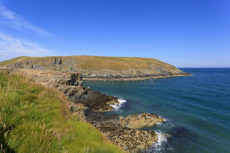 Cardigan Island. Viewed from Carreg lydan royalty free stock photography