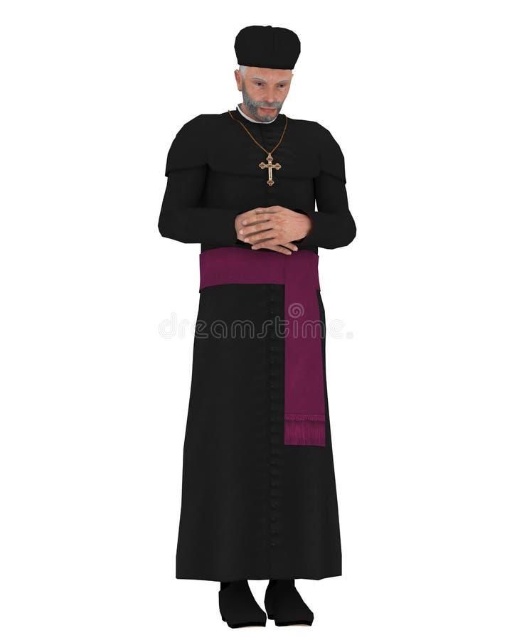 Cardinale cattolico illustrazione di stock