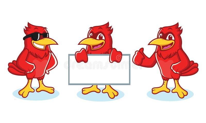 Cardinale Mascot felice illustrazione di stock