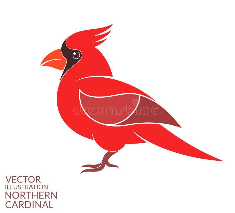Cardinale nordico illustrazione di stock