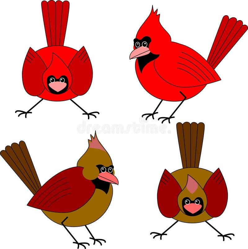 cardinals иллюстрация вектора