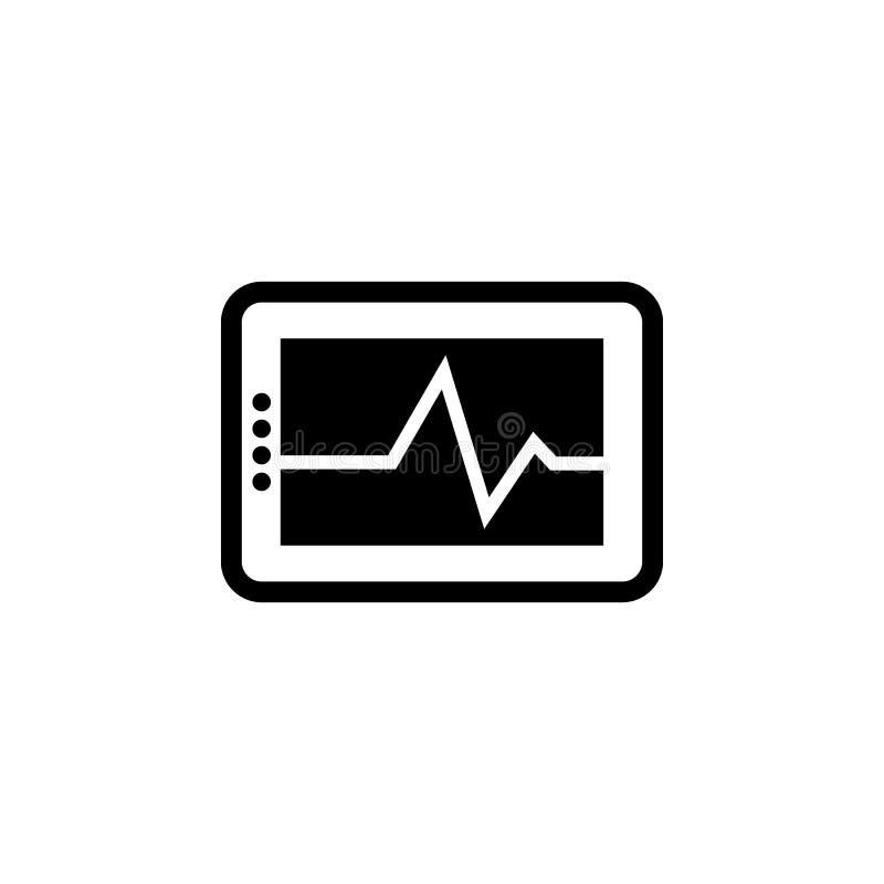 Cardio- ícone da pulsação do coração foto de stock royalty free
