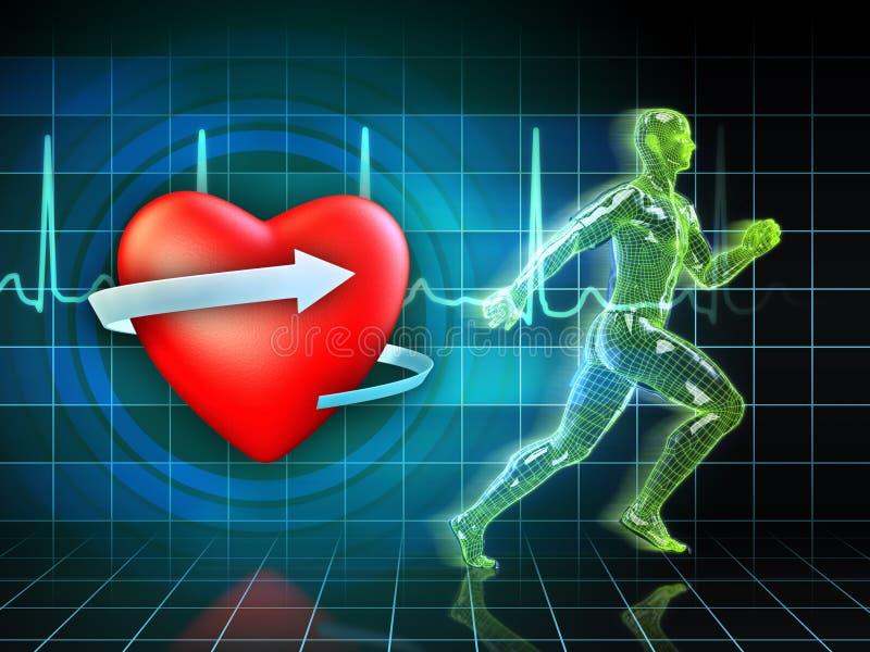 Cardio addestramento illustrazione vettoriale
