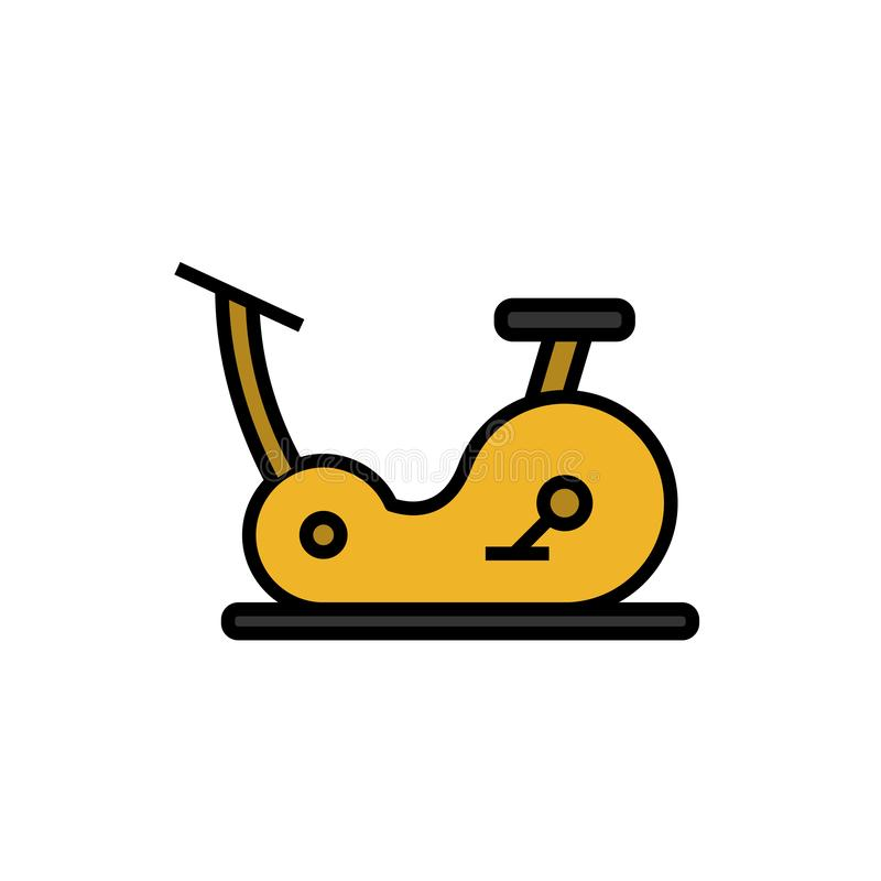 Cardio cycling workout icon with fitness bike equipment illustration. simple graphic. Eps 10 stock illustration