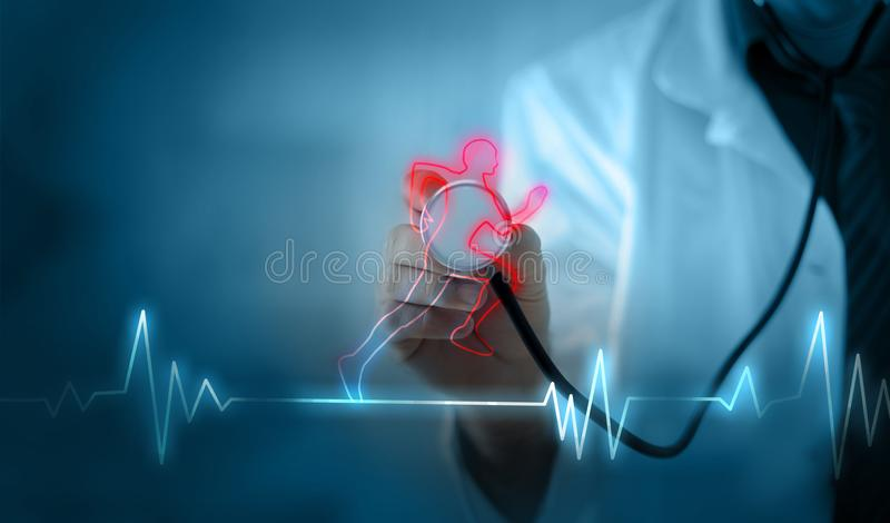 Cardio exercise increases the heart`s health royalty free stock photos